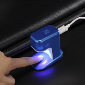 Portable 3W Mini LED UV Lamp Nail Dryer USB Charging Single Finger Nail Dryer Polish Light Manicure Machine Blue