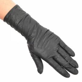 100pcs Grade Disposable Tattoo Buna-N Latex Gloves Black