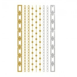 Foil Metal Cool Bracelet Pattern Gilding Temporary Tattoo Sticker Golden