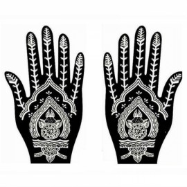 1 Pair India Henna Temporary Tattoo Stencil for Hand Leg Arm Feet Body Art Decal #24