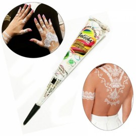Natural Herbal Quick Dry Henna Paste Cone Temporary Tattoo Body Art 25g White