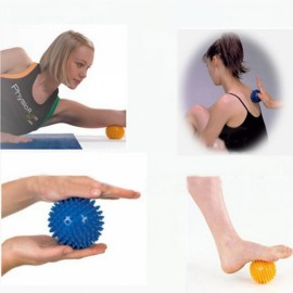 2pcs 9cm Cute Hedgehog Sensory Training Hard Hand Soles Physiotherapy Massage Balls Random Color