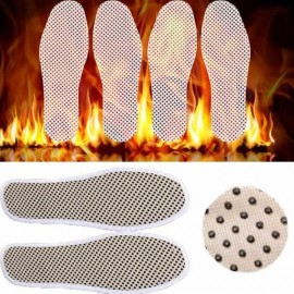 Tourmaline Self Heated Heating Magnetic Foot Massage Insole Far Infrared Warm Shoe Pads