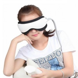 Multifunctional Microcomputer Control Electric Magnetic Far-infrared MP3 Eye Care Massager White