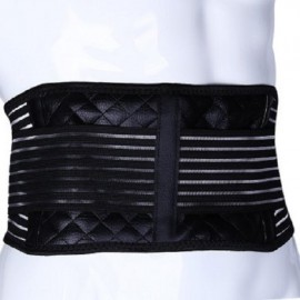 Aolikes Far Infrared Magnetic Waist Support Belt Black XL