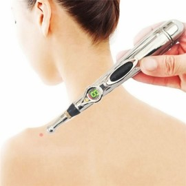 Infrared Acupuncture Meridian Energy Pen Therapy Instrument Silver