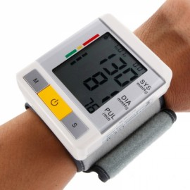 U60 Automatic Wrist Blood Pressure Monitor English Display White
