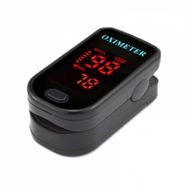 Color LED Display Oxymetre Pulsioxmetro Fingertip Pulse Monitor Black