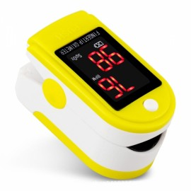 Fingertip Pulse Oximeter Diagnostic-tool Digital SpO2 PR PI Heart Rate Monitor Yellow