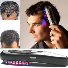 Power Grow Health Care Laser Massage Hair Comb Black