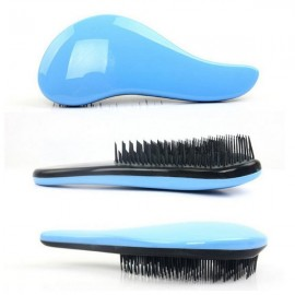 Portable Hair Care Styling Massage Comb Light Blue