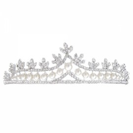 Bride Rhinestone Crystal Crown Tiara Princess Queen Wedding Bridal Party Prom Headpiece Hair Jewelry #04