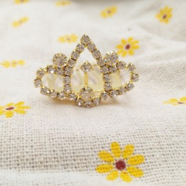 Small Wedding Bridal Rhinestone Crown Tiara Hair Comb Pin S5 Golden