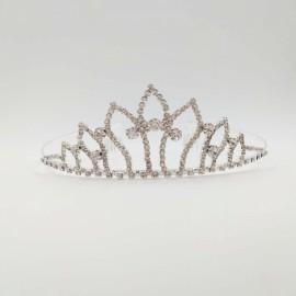 Petals Shaped Rhinestone Headband Crown Tiara Hair Comb SZ3 Silver