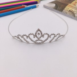 Rhinestone Silver Crystle Crown Headband Bridal Tiara FK14