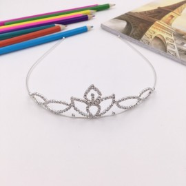 Rhinestone Silver Crystle Crown Headband Bridal Tiara FK12