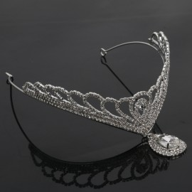 Rhinestone Crystal Tiara Crown Princess Queen Wedding Bridal Party Prom Headpiece Hair Jewelry Silver TFC-241