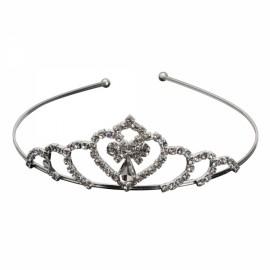 Rhinestone Crystal Tiara Crown Princess Queen Wedding Bridal Party Prom Headpiece Hair Jewelry Silver SNB-4615