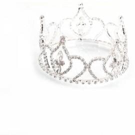 Girl Baby Crystal Rhinestone Full Circle Round Mini Tiara Crown Bridal Party Prom Headpiece Hair Jewelry Silver BNSC-2566