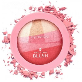 By Nanda Cute Ice Cream Box 3-Color Cosmetic Baked Powder Blush #S04