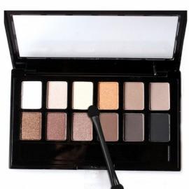 12 Colors Set Women Waterproof Makeup Eyeshadow Palette with Brush