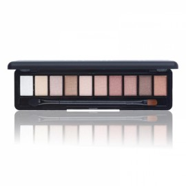 NOVO Fashion 10-Color Shimmer Matte Eye Shadow Makeup Palette Cosmetics Set with Brush 2#