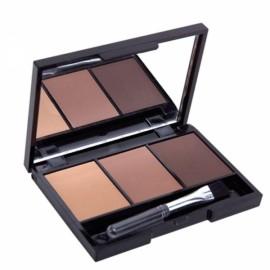 3 Colors Set Women Makeup Eyeshadow Palette Eyebrow Powder Cosmetics 1#