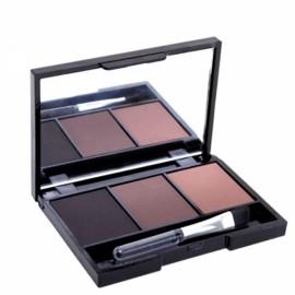3 Colors Set Women Makeup Eyeshadow Palette Eyebrow Powder Cosmetics 3#