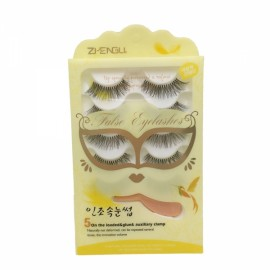 5 Pairs Handmade Long Charming False Eyelashes B4 Black