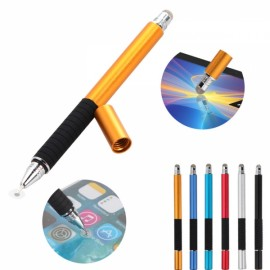 2-in-1 Capacitive Pen Touch Screen Drawing Pen Stylus for Samrtphone Tablet PC Golden