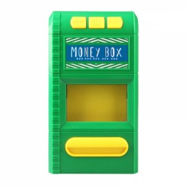 Creative Design Cartoon Piggy Bank Money Box Simulation Cash Grinders Saving Cash Box Music Shredder Piggy Bank Green