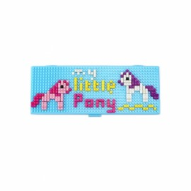 Pencil Case Diamond Building Blocks Box Mini DIY Bricks Gift For Children-Little Pony
