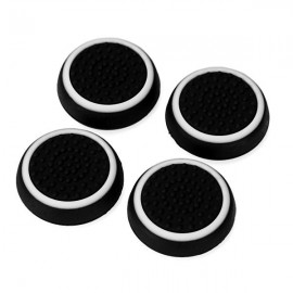 4pcs Silicone Gamepad Thumb Stick Grips Caps Covers for PS4/PS3/PS2/Xbox360  Black & White