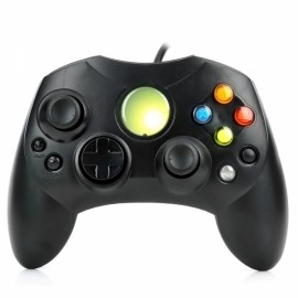 USB Wired Game Controller Joystick Gamepad for XBOX Black