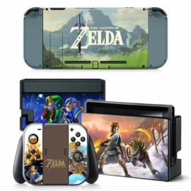 4pcs  Nintendo Switch Console Joy-Con Skin Zelda Vinyl Sticker Wrap - TN-switch-0013