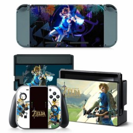 4pcs  Nintendo Switch Console Joy-Con Skin Zelda Vinyl Sticker Wrap - TN-switch-0008