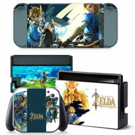 4pcs  Nintendo Switch Console Joy-Con Skin Zelda Vinyl Sticker Wrap - TN-switch-0010