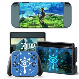 4pcs  Nintendo Switch Console Joy-Con Skin Zelda Vinyl Sticker Wrap - TN-switch-0011