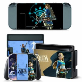 4pcs  Nintendo Switch Console Joy-Con Skin Zelda Vinyl Sticker Wrap - TN-switch-0014
