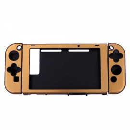 Anti-scratch Dustproof Protective Case for Nintendo Switch Console w/Joy-Con Controller - Golden