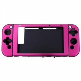 Anti-scratch Dustproof Protective Case for Nintendo Switch Console w/Joy-Con Controller - Rose Red