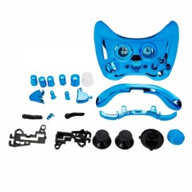 Wireless Controller Full Housing Shell Case for Xbox 360 Controller Plating Blue