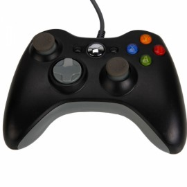 Wired Controller Game for Xbox 360 / PC Black