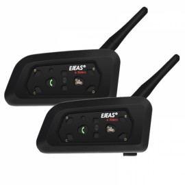 2pcs V6 Pro Motorcycle Intercom Bluetooth Helmet Headset With Microphone 1200m GPS Moto KTM For 6 Riders