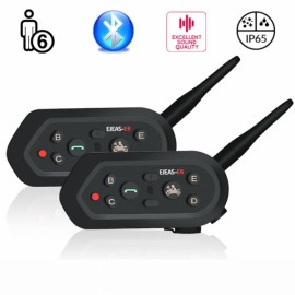2pcs E6 Cascos Inalambrico Bluetooth Motorcycle Intercom Helmet VOX AUX M?sica GPS Handsfree Communication