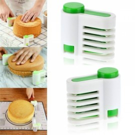 2pcs 5 Layers DIY Cake Bread Cutter Leveler Slicer Adjustable Cutting Fixator Guide Tools for Kitchen Baking Cake Tool Random Delivery