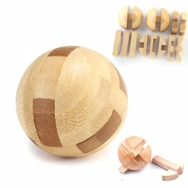 Intelligence Luban Lock Wooden Brain Teaser Puzzle Educational Toy Magic Ball