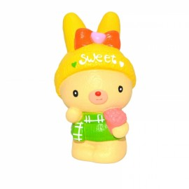 Kiibru Squishy Sweet Bunny Holding Flowers 14cm Soft Slow Rising With Packaging Collection Gift Toy