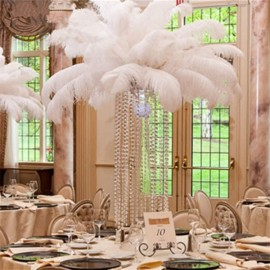"20pcs 16-18"" Natural Ostrich Feathers Party Wedding Decoration White"