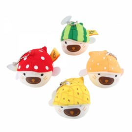 4pcs Super Cute Fruit Seal Nanoparticles Hanging Doll Toy Set with Suckers Multicolor